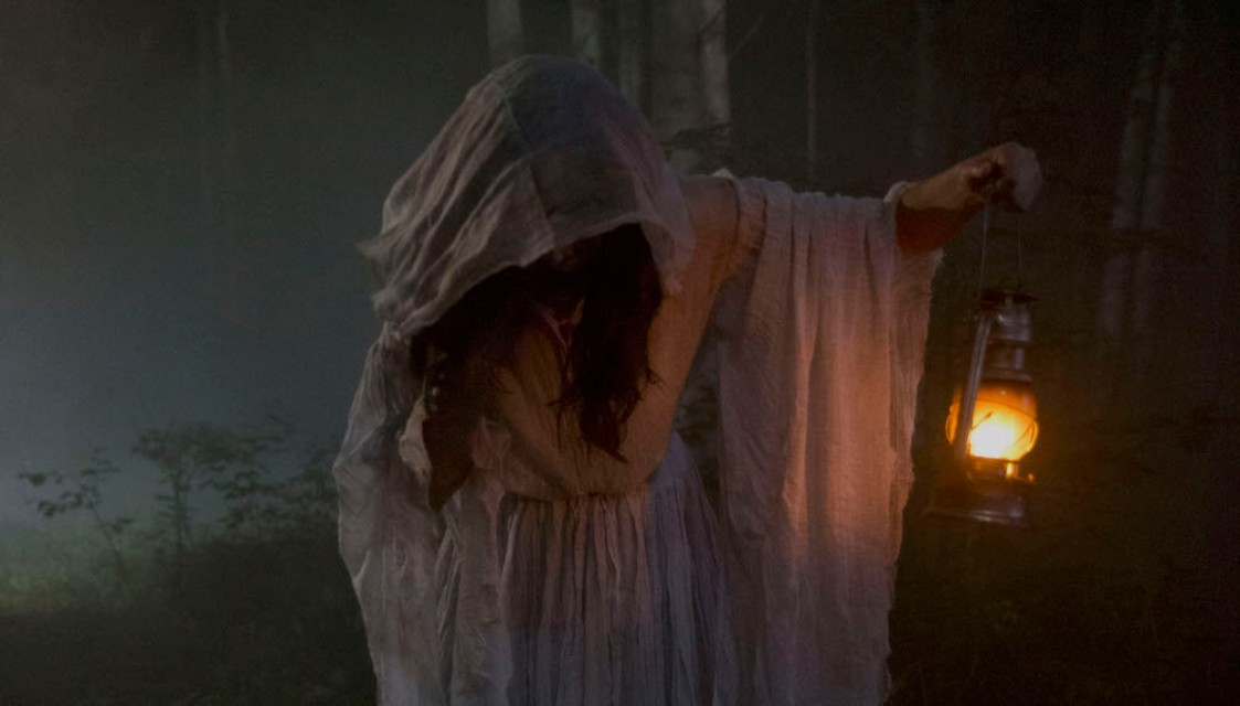 A scene from the horror movie The Curse of Buckout Road