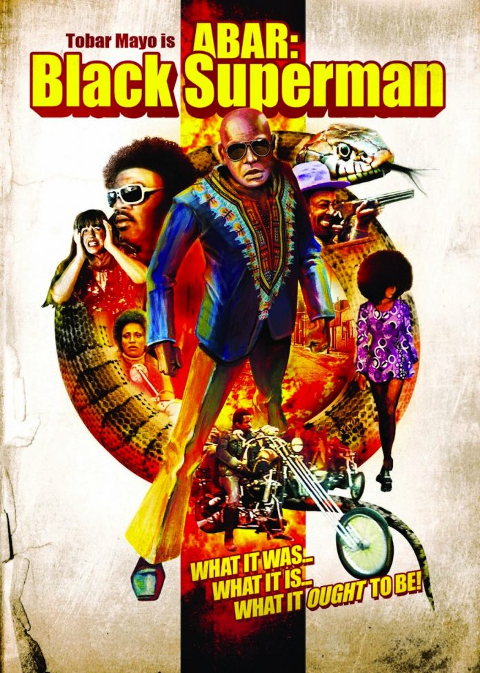 Abar the First Black Superman In Your Face blaxploitation movie poster