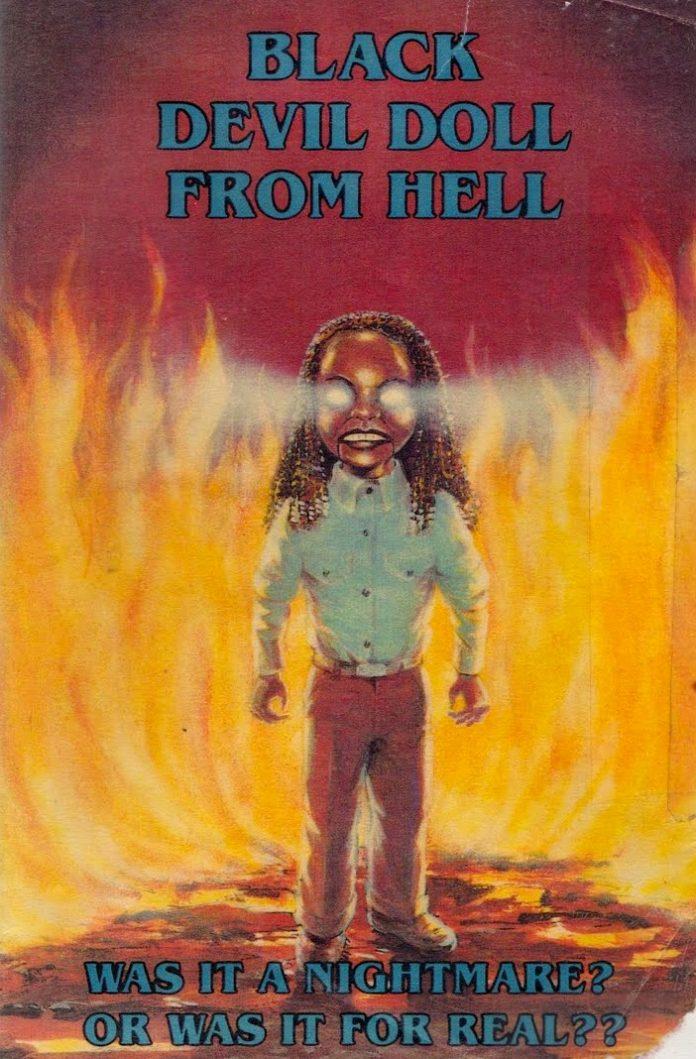 Black Devil Doll from Hell horror movie poster
