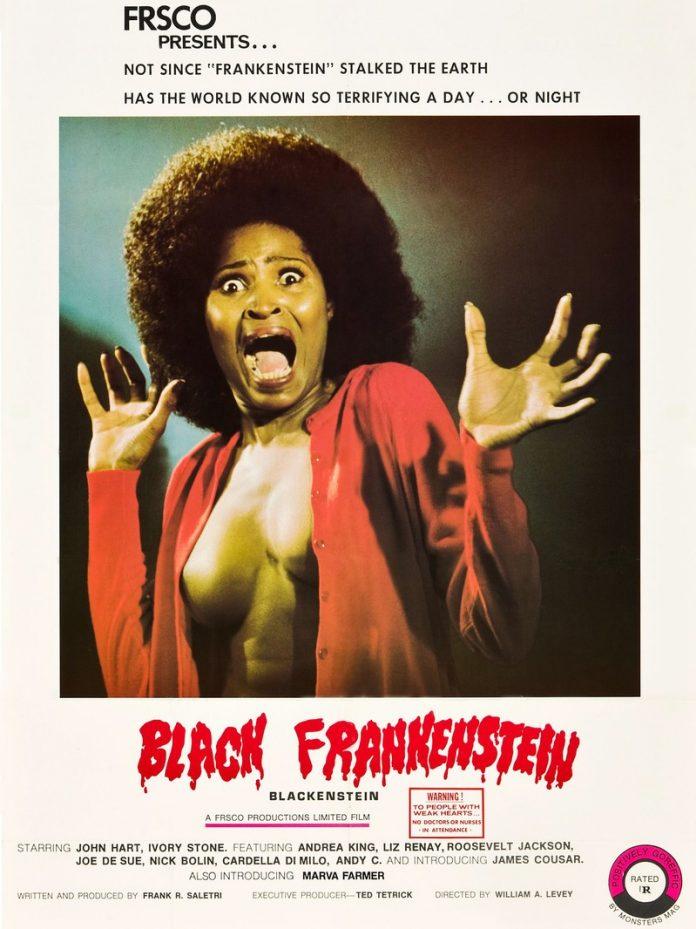 Blackenstein horror movie poster