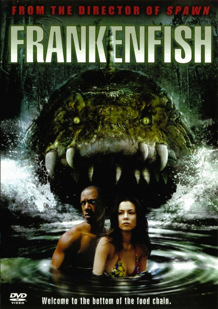 Frankenfish horror movie poster
