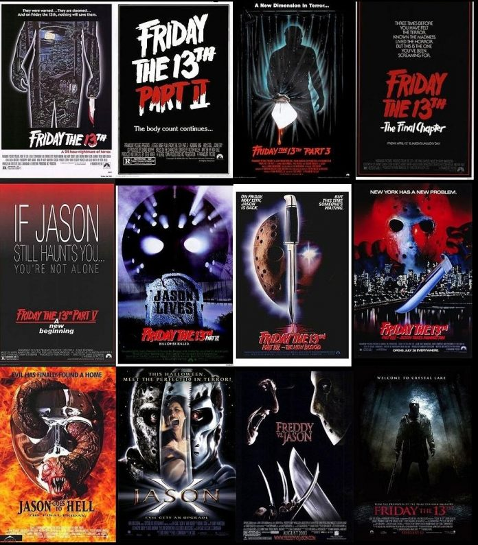 Friday the 13th horror movie franchise