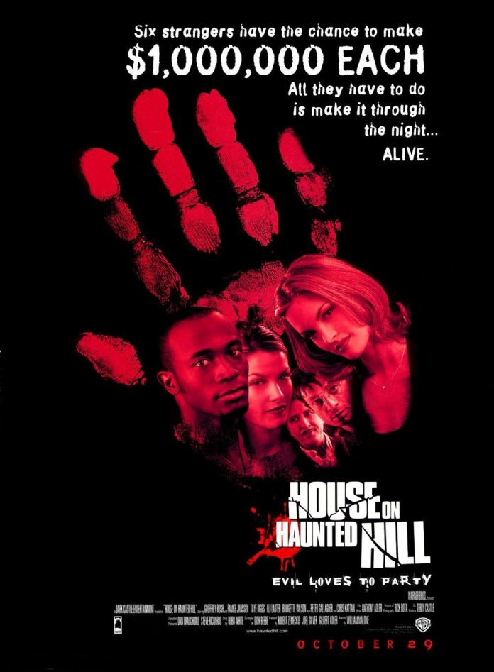 House on Haunted Hill 1999 horror movie poster