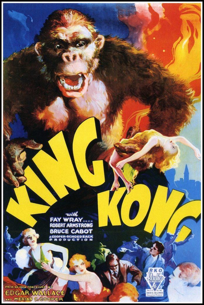 King Kong (1933) horror movie poster