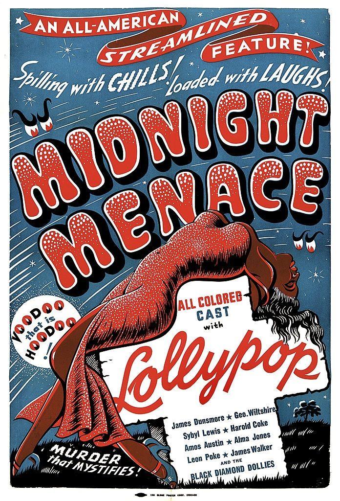 Midnight Menace horror movie poster