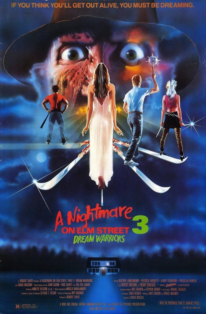 A Nightmare on Elm Street 3: Dream Warriors horror movie poster