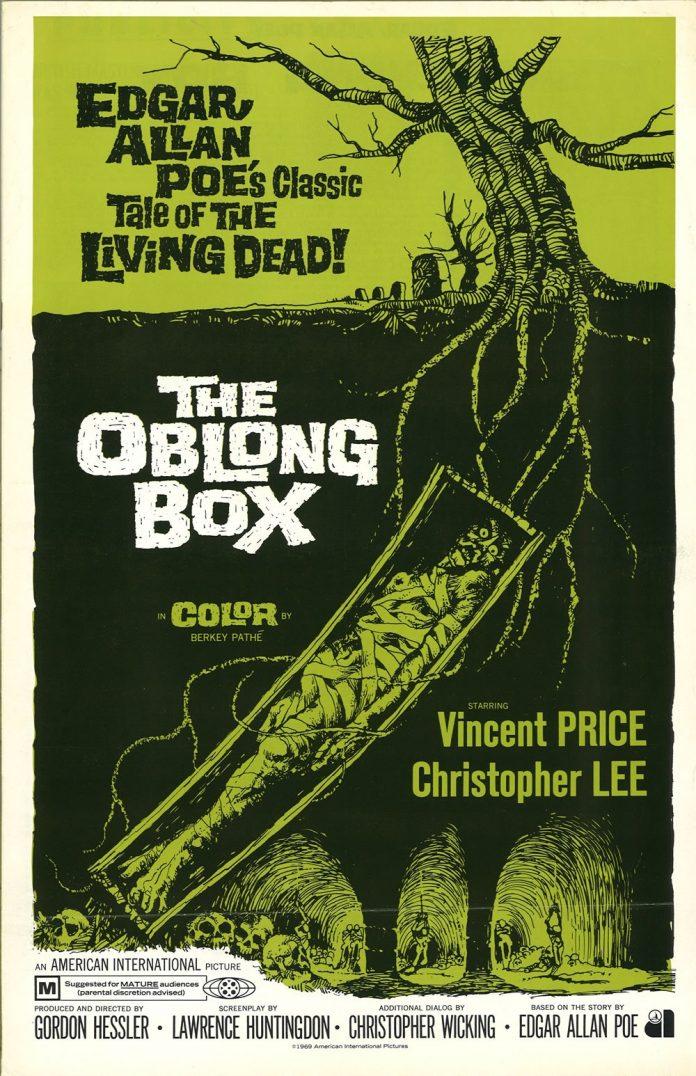 The Oblong Box horror movie poster