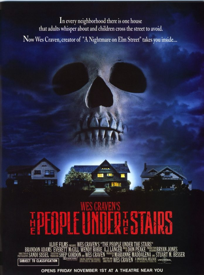 The People Under the Stairs horror movie poster