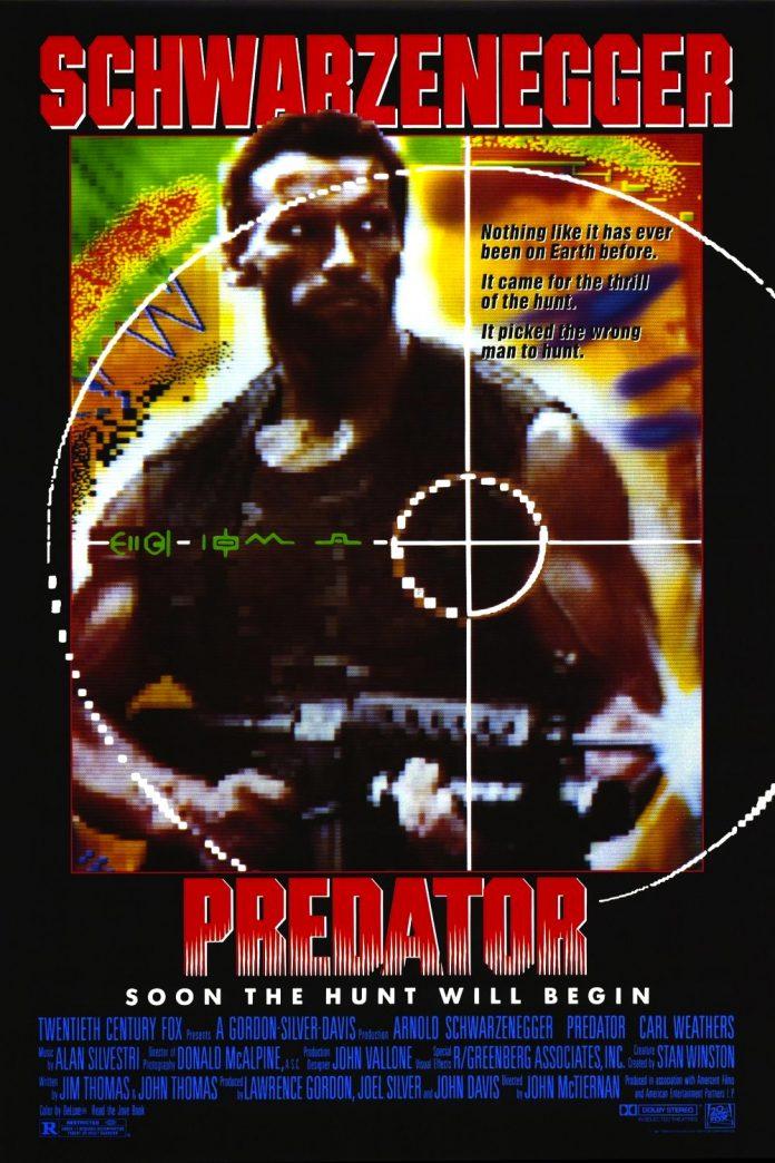 Arnold Schwarzenegger in Predator movie poster