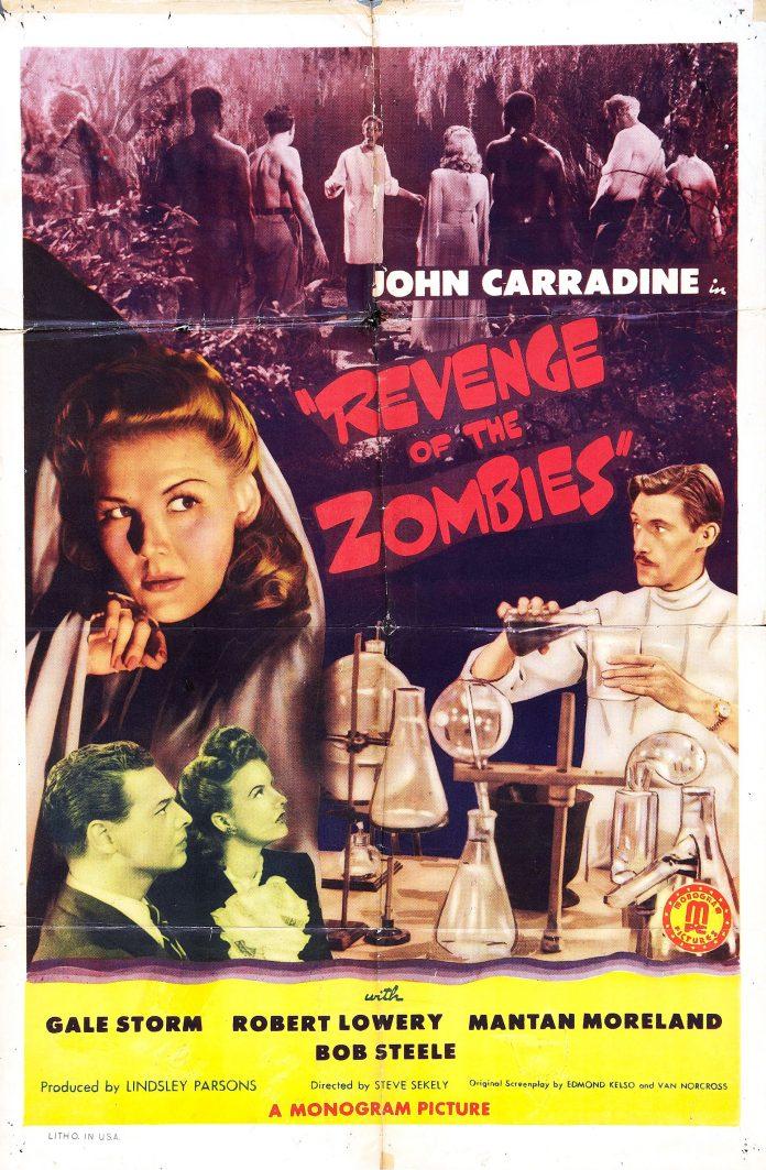 Revenge of the Zombies horror movie poster