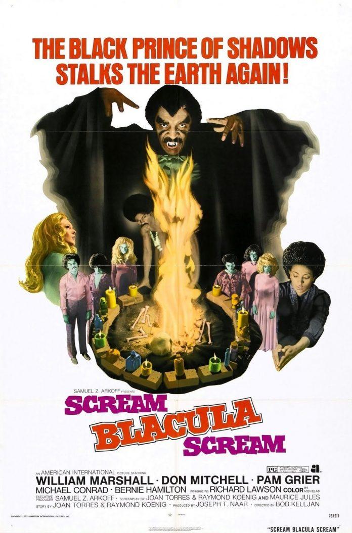 Scream Blacula Scream horror movie poster