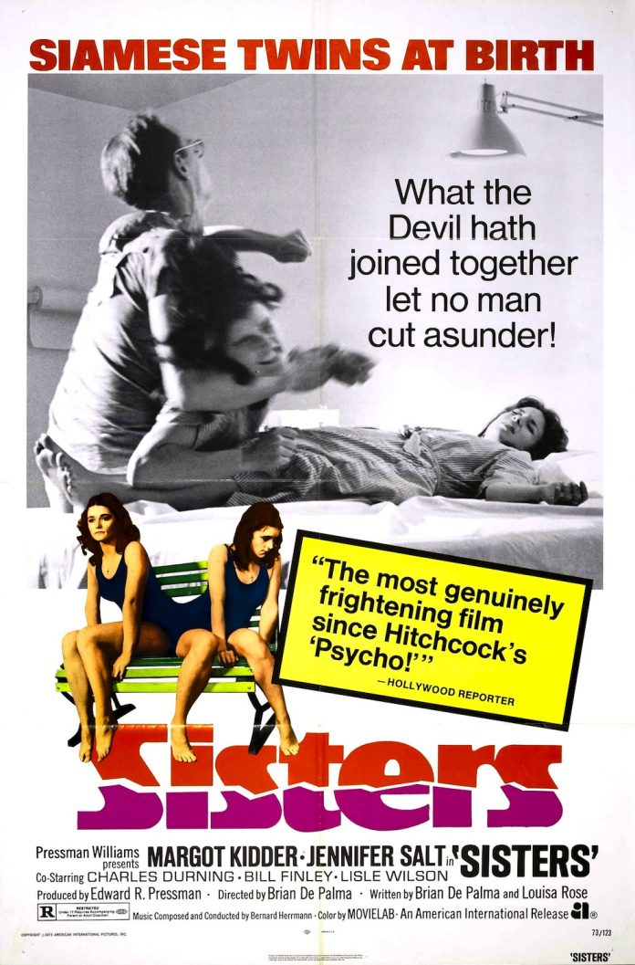 Brian De Palma's Sisters horror movie poster