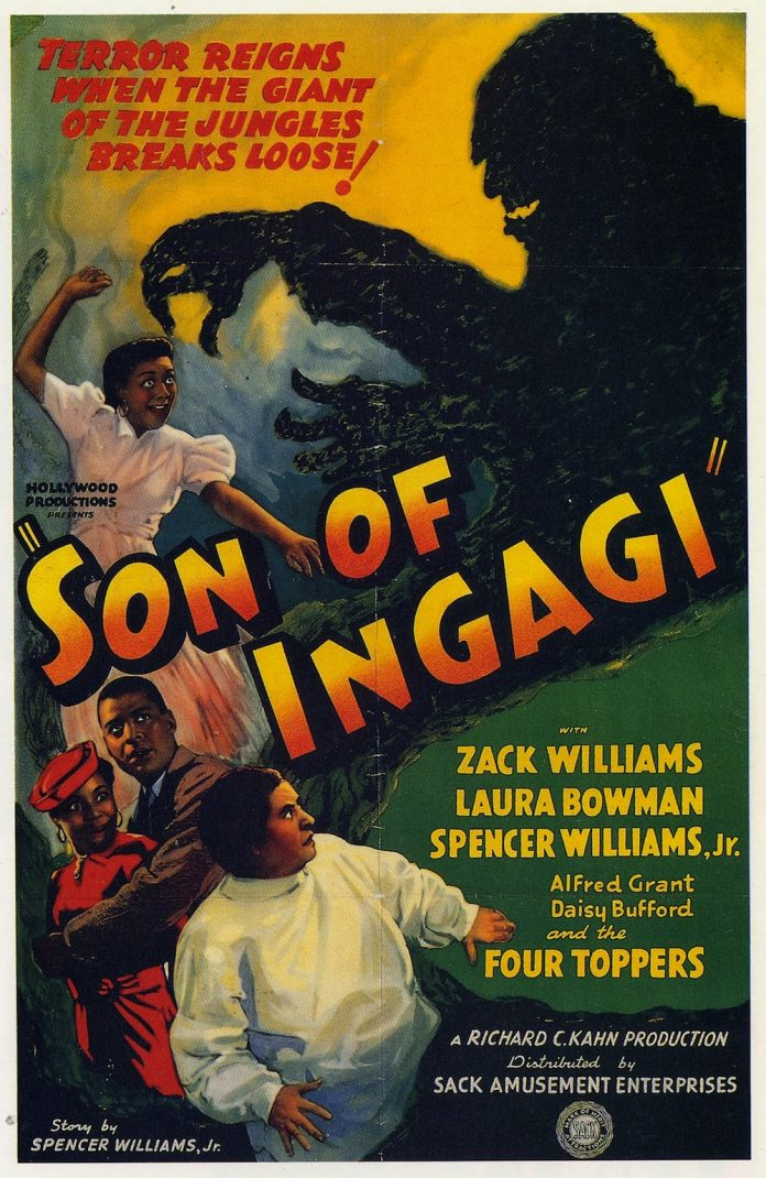 Son of Ingagi horror movie poster