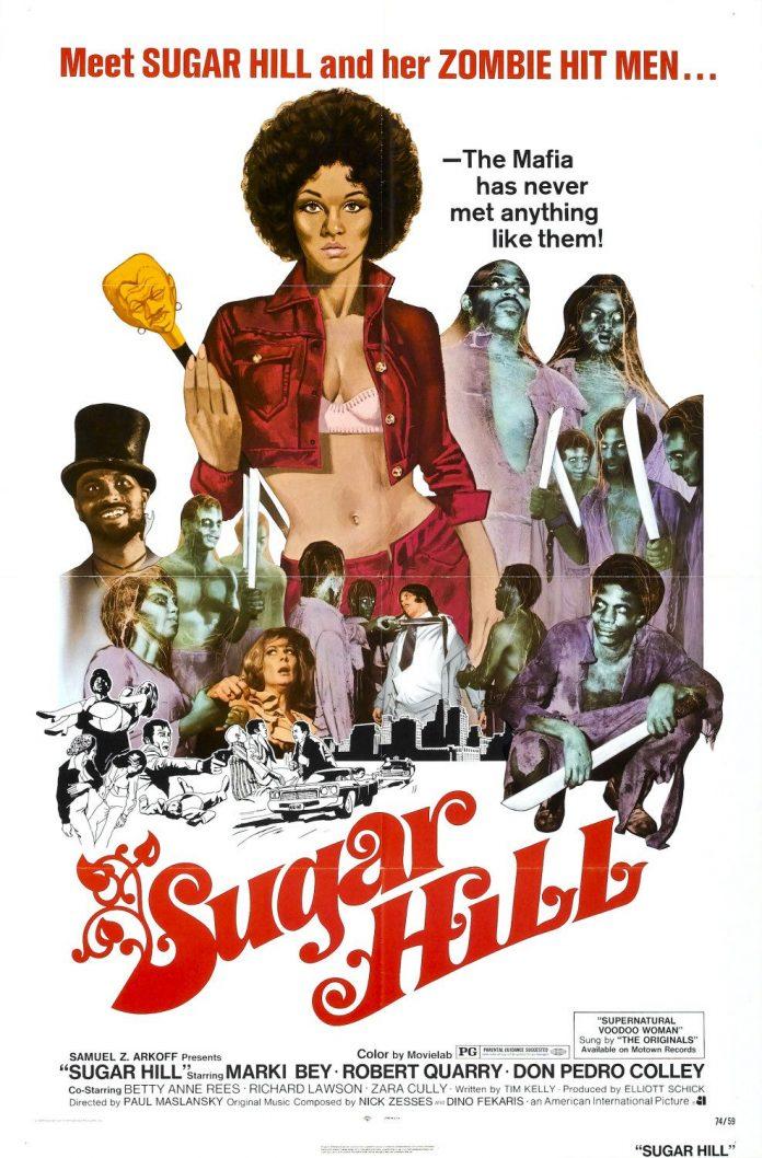 Sugar Hill blaxploitation horror movie poster