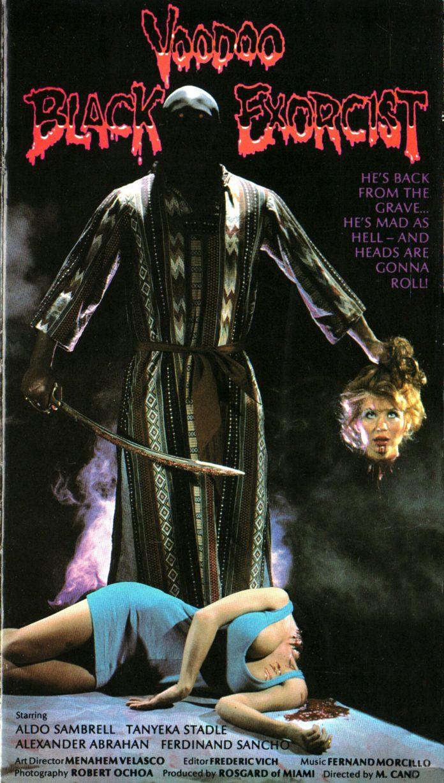 Black Voodoo Exorcist horror movie poster
